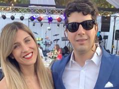 Roberto Van Cauwelaert y Fernanda Carrasco pareja