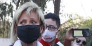 20 deAgostode2020/SANTIAGO  Raquel Argandoña, durante el  Punto de prensa en Clínica El Cedro debido al traslado de Hernan Calderon hijo FOTO:MAURICIOMENDEZ/AGENCIAUNO