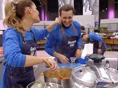 Gala Caldirola y Alvaro Morales en El Discípulo del Chef 3