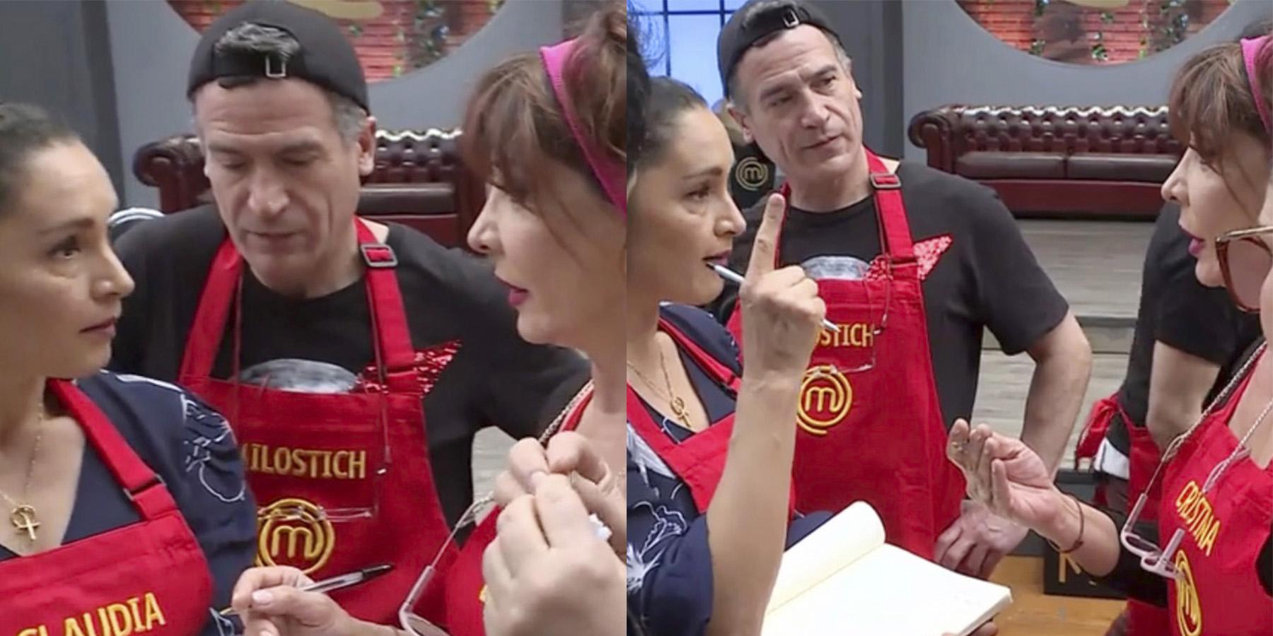 Claudia Miranda a su grupo en MasterChef: «¡Silencio!». Cristina Tocco: «¡Pará Claudita! No, no, no…»