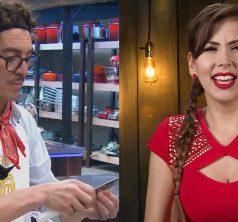 Felipe Ríos y Nataly Chilet en MAsterChef Celebrity